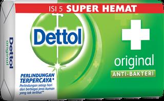 Sabun Anti Bakteri Dettol Original (4+1 65g)